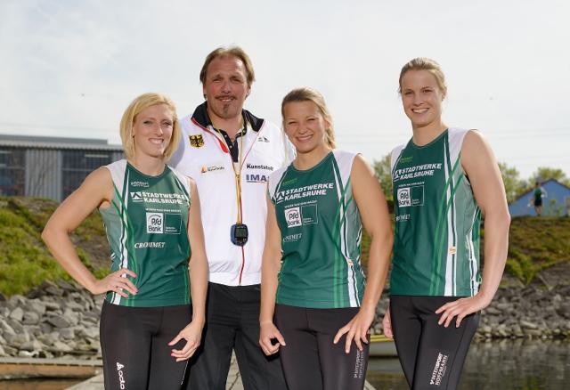 Sabine Volz, Detlef Hofmann, Cathrin Dürr und Verena Hantl (v.l.) tragen auch 2014 den Adler auf der Brust ©GES